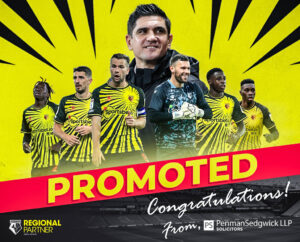 Watford FC sponsored by Penman Sedgwick